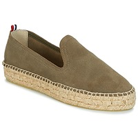 Chaussures Femme Espadrilles 1789 Cala SLIP ON DOUBLE LEATHER KAKI