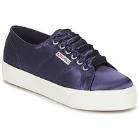 Chaussures Femme Baskets basses Superga 2730 SATIN W Marine