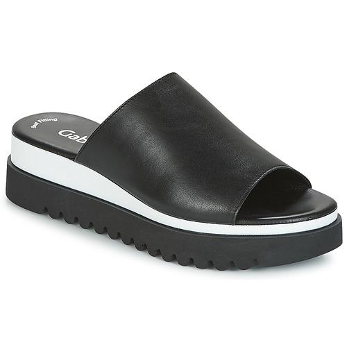 Chaussures Femme Mules Gabor SORIEUX Noir / Blanc