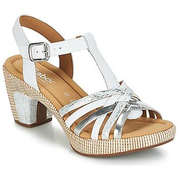 Chaussures Femme Sandales et Nu-pieds Gabor MASTIAR Blanc / Argent
