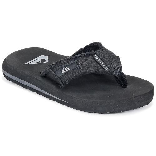 Chaussures Enfant Tongs Quiksilver MONKEY ABYSS YT B SNDL XKKC Noir