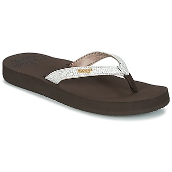 Chaussures Femme Tongs Reef STAR CUSHION SASSY Marron/Blanc
