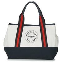 Sacs Femme Cabas / Sacs shopping Superdry BAYSHORE BEACH TOTE Blanc / Marine / Rouge