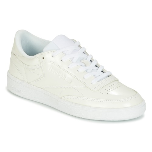 d4758e16ae22f Chaussures Femme Baskets basses Reebok Classic CLUB C 85 PATENT Blanc