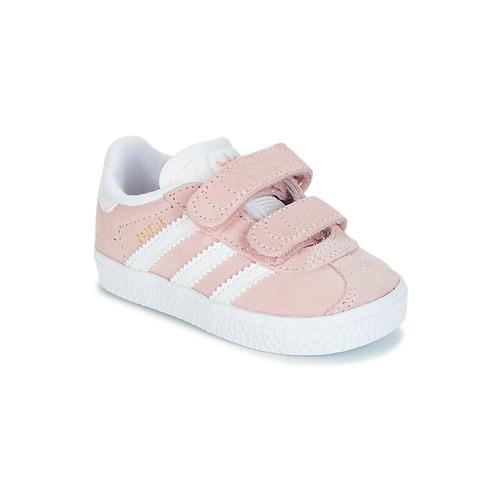Chaussures Fille Baskets basses adidas Originals GAZELLE CF I Rose