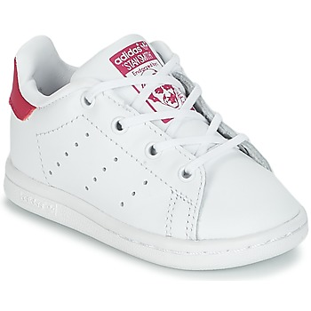 ed750965ba9 Chaussures Fille Baskets basses adidas Originals STAN SMITH I Blanc   rose