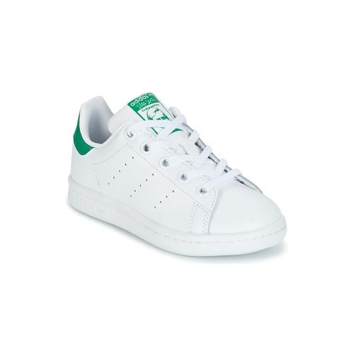 Chaussures Enfant Baskets basses adidas Originals STAN SMITH C Blanc / vert