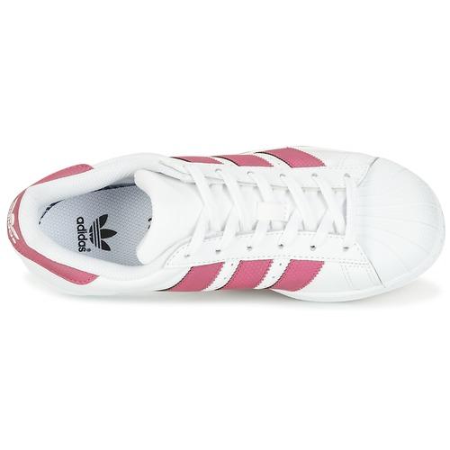 adidas Originals SUPERSTAR J Blanc / rose