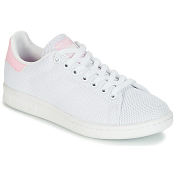 Chaussures Femme Baskets basses adidas Originals STAN SMITH W Blanc / Rose
