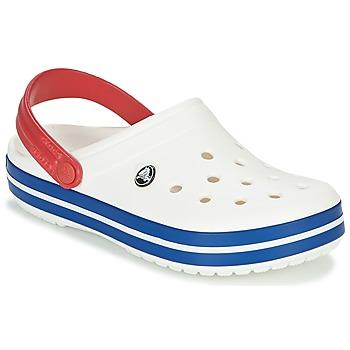Chaussures Sabots Crocs CROCBAND Blanc / bleu/ rouge