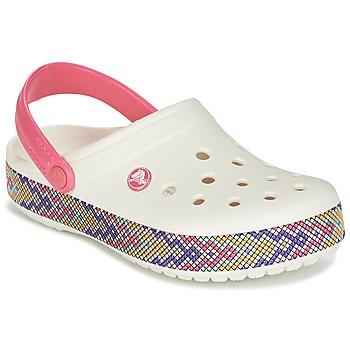 Chaussures Femme Sabots Crocs CROCBAND GALLERY CLOG Blanc / rose