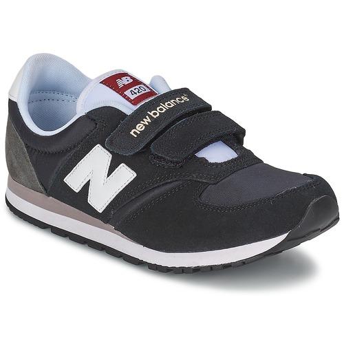 Chaussures Enfant Baskets basses New Balance KE420 Noir / Gris
