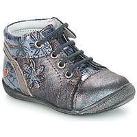 Chaussures Fille Boots GBB ROSEMARIE Gris / Bleu