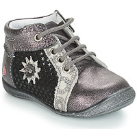 Chaussures Fille Boots GBB RESTITUDE Argent / Noir / Gris