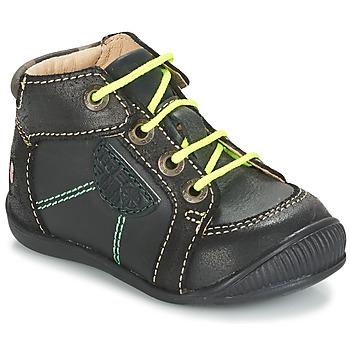 Chaussures Garçon Boots GBB RACINE Gris / Noir