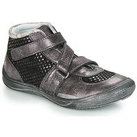 Chaussures Fille Baskets montantes GBB RIQUETTE Noir / Argenté