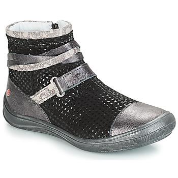 Chaussures Fille Boots GBB ROCHELLE Gris / Noir