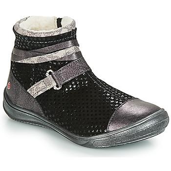 Chaussures Fille Boots GBB ROCHELLE Noir / Argenté