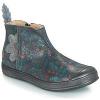 Chaussures Fille Bottes ville GBB ROMANE VTE GRIS IMPRIME DPF/EDIT