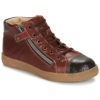 Chaussures Garçon Baskets montantes GBB NICO Marron