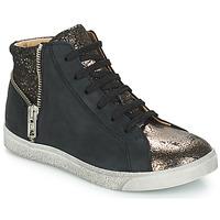 Chaussures Fille Baskets montantes GBB CARLA Noir / Bronze