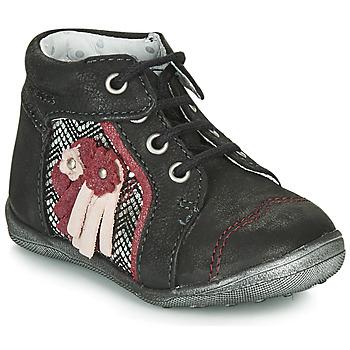 Chaussures Fille Boots Catimini RAINETTE Noir / Argenté