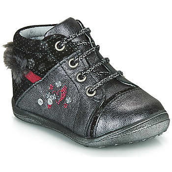 Chaussures Fille Boots Catimini ROULETTE VTC GRIS-ARGENT DPF/GLUCK