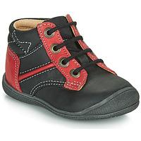 Chaussures Garçon Boots Catimini RATON VTE NOIR-ROUGE DPF/KIMBO