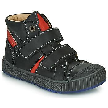 Chaussures Garçon Boots Catimini RAIFORT Noir / Rouge