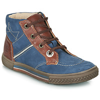 Chaussures Garçon Boots Catimini RUMEX Bleu / Marron