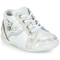 Chaussures Fille Baskets montantes GBB SHINA Blanc / Argent