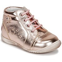 Chaussures Fille Baskets basses GBB SIDONIE Rose / Or