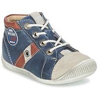 Chaussures Garçon Baskets montantes GBB SILVIO Marine / Marron