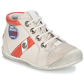 Chaussures Garçon Boots GBB SILVIO Beige / Rouge