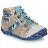 Chaussures Garçon Boots GBB SILVIO Beige / Bleu