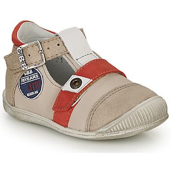 Chaussures Garçon Sandales et Nu-pieds GBB STANISLAS VTC BEIGE-ROUGE DPF/RAIZA
