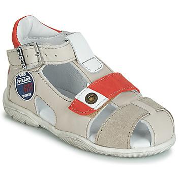 Chaussures Garçon Sandales et Nu-pieds GBB SULLIVAN VTC BEIGE-ROUGE DPF/FILOU