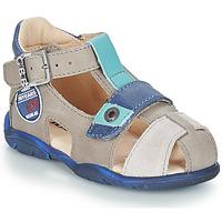 Chaussures Garçon Sandales et Nu-pieds GBB SULLIVAN VTC TAUPE-BLEU DPF/FILOU