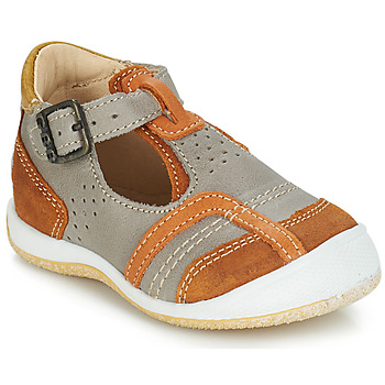 Chaussures Garçon Sandales et Nu-pieds GBB SIGMUND Taupe / Cognac