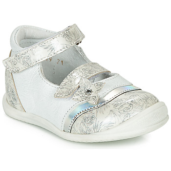 Chaussures Fille Ballerines / babies GBB STACY Blanc / Argenté