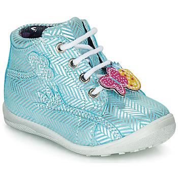 Chaussures Fille Baskets montantes Catimini SALAMANDRE Bleu / Argenté