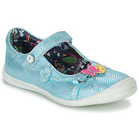 Chaussures Fille Ballerines / babies Catimini SENTINELLE VTE CIEL-ARGENT DPF/ZAFRA