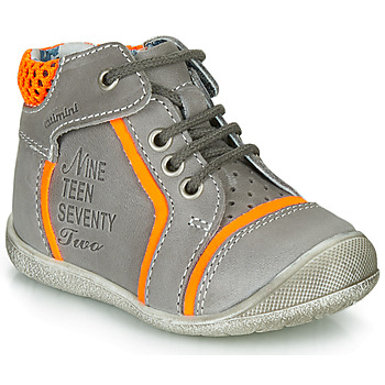 Chaussures Garçon Boots Catimini SEREVAL NUS GRIS-ORANGE FLUO DPF/KIMBO