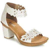 Chaussures Femme Sandales et Nu-pieds Rieker BELALIER Blanc