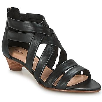 Chaussures Femme Sandales et Nu-pieds Clarks MENA SILK Noir