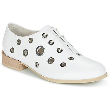 Chaussures Femme Derbies Café Noir IVET Blanc