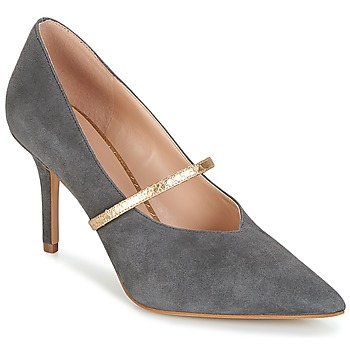 Chaussures Femme Escarpins KG by Kurt Geiger V-CUT-MID-COURT-WITH-STRAP-GREY Gris