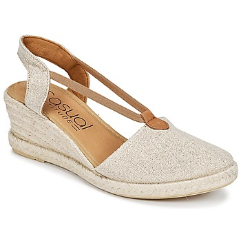 Chaussures Femme Espadrilles Casual Attitude IPOP Or
