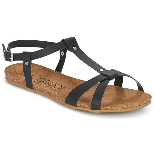 Chaussures Femme Sandales et Nu-pieds Casual Attitude JALIYAXE Noir