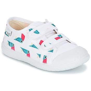 Chaussures Fille Baskets basses Citrouille et Compagnie GLASSIA Blanc